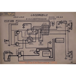Locomobile 38 48 6volt Schema Electrique 1915 1916 Westinghouse
