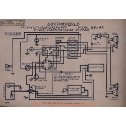Locomobile 38 48 6volt Schema Electrique 1916 1917 1918 1919 1920 Westinghouse