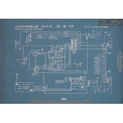 Locomobile 38 48 Schema Electrique 1915 1916 V2