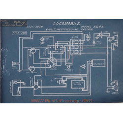Locomobile 38 48 Schema Electrique 1915 1916 Westinghouse V2