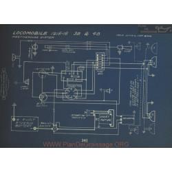 Locomobile 38 48 Schema Electrique 1915 1916 Westinghouse