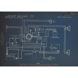 Lozier 77 Schema Electrique 1913 1914 Gray & Davis