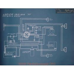 Lozier 77 Schema Electrique 1913 1914