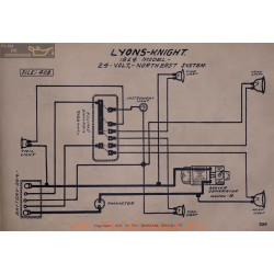 Lyons Knight 24volt Schema Electrique 1914 North East