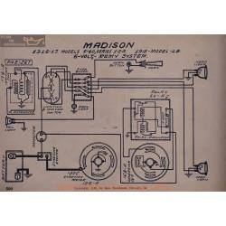 Madison 6 40 18 6volt Schema Electrique 1916 1917 Remy
