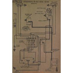 Madison 6 40 Schema Electrique 1918 1919 Remy