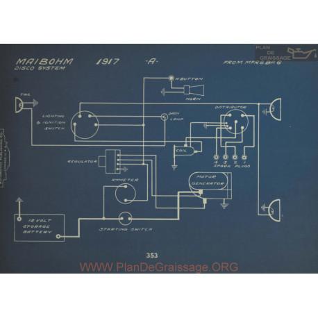 Maibohm A Schema Electrique 1917 Disco