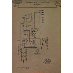 Maibohm B 6cyl Schema Electrique 1918 1919 Wagner