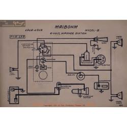 Maibohm B 6volt Schema Electrique 1918 1919 Wagner V2
