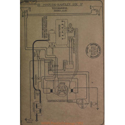 Marion Handley Six 6 40 Schema Electrique 1917 Westinghouse