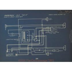 Marmon 32 4 Schema Electrique 1913 North East