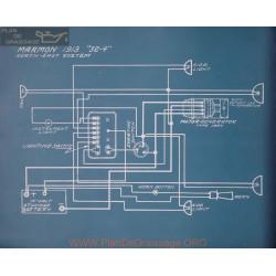Marmon 32 4 Schema Electrique 1913
