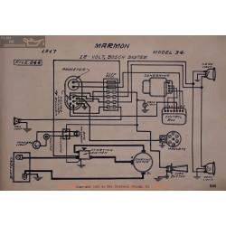 Marmon 34 12volt Schema Electrique 1917 Bosch V2
