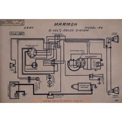 Marmon 34 6volt Schema Electrique 1920 Delco
