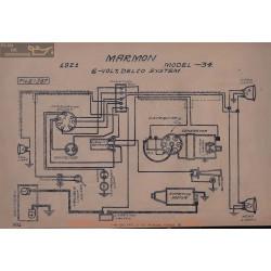 Marmon 34 6volt Schema Electrique 1921 Delco