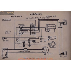 Marmon 34 Schema Electrique 12volt Schema Electrique 1918 1919 Bijur