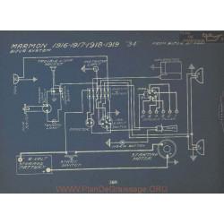 Marmon 34 Schema Electrique 1916 1917 1918 1919 Bijur