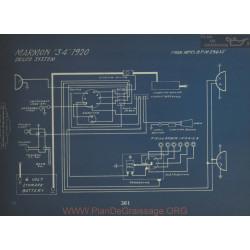 Marmon 34 Schema Electrique 1920 Delco