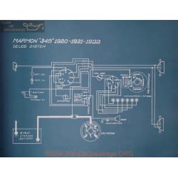 Marmon 34b Schema Electrique 1920 1921 1922