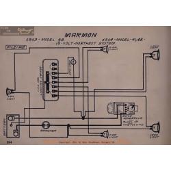 Marmon 41 48 16volt Schema Electrique 1913 1914 North East