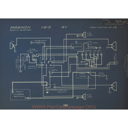 Marmon 41 Schema Electrique 1915 Bosch