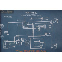 Maxwell 12volt Schema Electrique 1916 Simms Huff