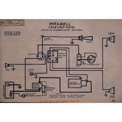 Maxwell 12volt Schema Electrique 1918 1919 Simms Huff V2