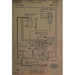 Maxwell 25 Schema Electrique 1918 1919 Simms Huff ver2