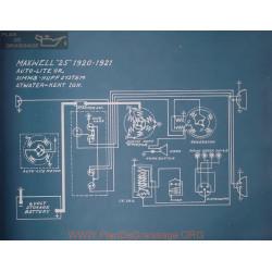 Maxwell 25 Schema Electrique 1920 1921