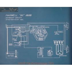 Maxwell 25 Schema Electrique 1920