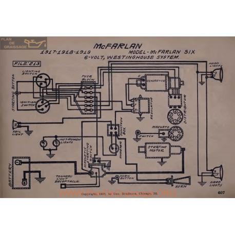 Mc Farlan Six 6volt Schema Electrique 1917 1918 1919 Westinghouse V2