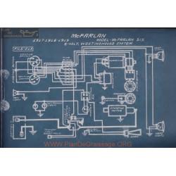 Mc Farlan Six 6volt Schema Electrique 1917 1918 1919 Westinghouse