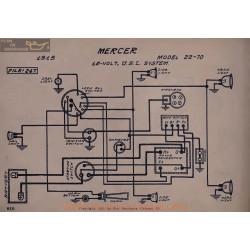 Mercer 22 70 12volt Schema Electrique 1915 Usl V2