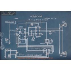Mercer 22 70 12volt Schema Electrique 1915 Usl