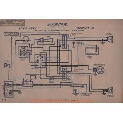 Mercer 5 6volt Schema Elctrique 1920 1921 Westinghouse