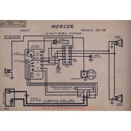 Mercer 22 73 12volt Schema Electrique 1917 Usl V2