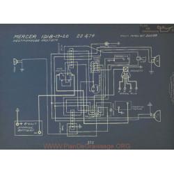 Mercer 22 74 Schema Electrique 1918 1919 1920 Westinghouse