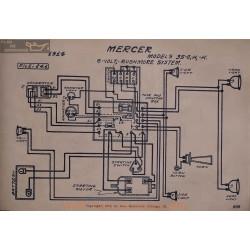 Mercer 35 G H K 6volt Schema Electrique 1914 Rushmore