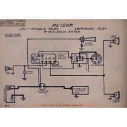 Meteor 75 80 6volt Schema Electrique 1917 1919 Delco V2