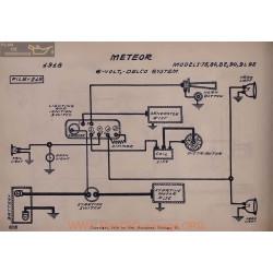 Meteor 75 80 82 90 94 92 6volt Schema Electrique 1918 Delco V2