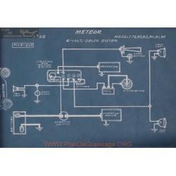 Meteor 75 80 82 90 94 92 6volt Schema Electrique 1918 Delco