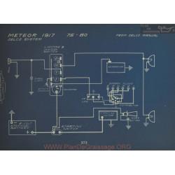 Meteor 75 80 Schema Electrique 1917 Delco