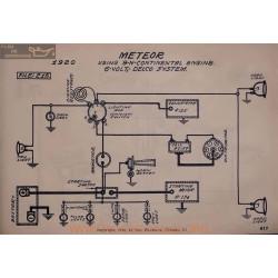 Meteor 9n Continental 6volt Schema Electrique 1920 Delco