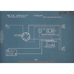 Metz 22 25 Schema Electrique 1915 1916 1917 V2