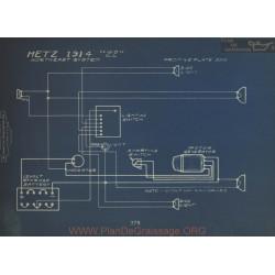 Metz 22 Schema Electrique 1914 North East