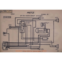 Metz E 12volt 24volt Schema Electrique 1914 North East