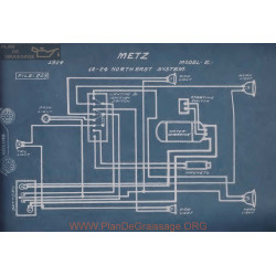 Metz E 12volt 24volt Schema Electrique 1914 Northeast