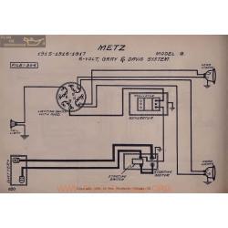 Metz G 6volt Schema Electrique 1915 1916 1917 Gray & Davis V2