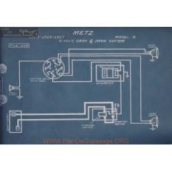 Metz G 6volt Schema Electrique 1915 1916 1917 Gray & Davis