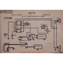Metz G 6volt Schema Electrique 1917 1918 Westinghouse V2
